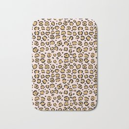 Pink Cheeta Pattern Bath Mat