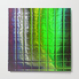 Square Glass Tiles 204 Metal Print