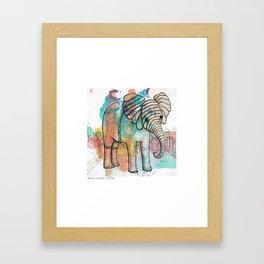 Juneau Elephant Explorer Framed Art Print