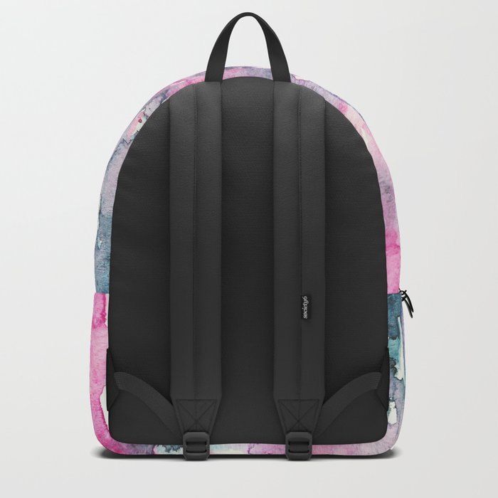 When indigo loves pink || watercolor Backpack