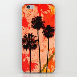 Palm Tree Paint iPhone Skin
