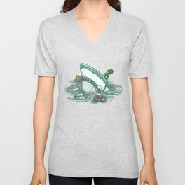 Happy Birthday Shark Unisex V-Neck