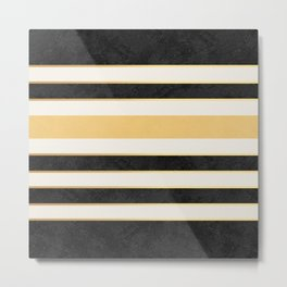 Marble stripes Metal Print