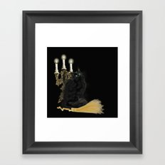 The Witch's Cat Framed Art Print