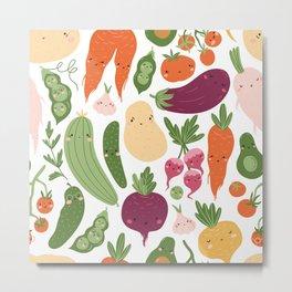 Cute vegetables Metal Print