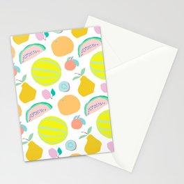 Minimalist Fruit Salad Stationery Cards
