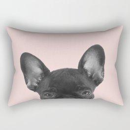 Blush pink Frenchie pop Rectangular Pillow