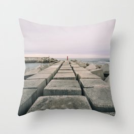 The seawall Throw Pillow