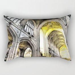 Bath Abbey Art Rectangular Pillow