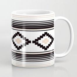 Modern Mexican Serape in Tan Coffee Mug