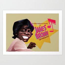 James Brown Art Print