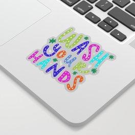 Wash Your Hands Design by Jelene Sticker