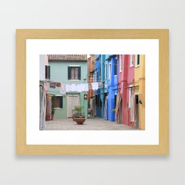 Colors of Burano Italy Framed Art Print