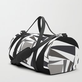 Abstract black white squares Duffle Bag