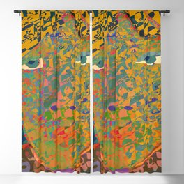 Contemporary David in the Jungle Zone Blackout Curtain