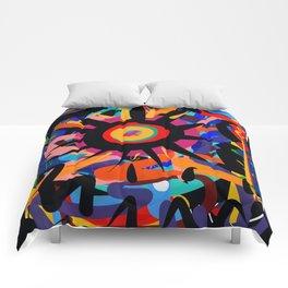 Black Sun is shining Abstract Art Street Graffiti Comforters