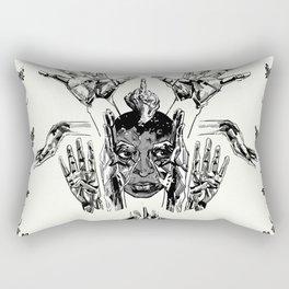 Make a Mask From Your Hands Rectangular Pillow