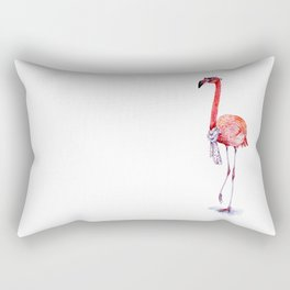 Fashionable  Pink Flamingo Rectangular Pillow