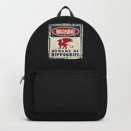 Hippogriff Warning Beware Backpack