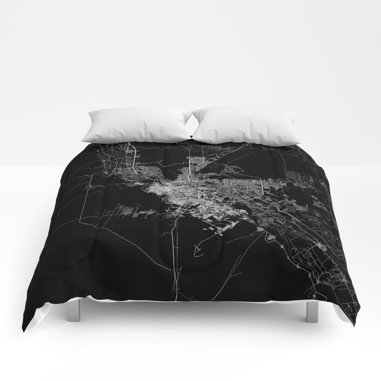 El Paso map Comforters