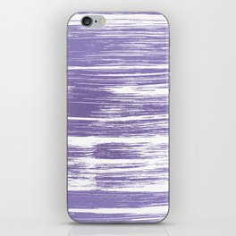 Modern abstract lilac lavender white watercolor brushstrokes iPhone Skin