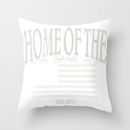 Home of the brave | American Conservatism | liberty - Vintage Throw Pillow
