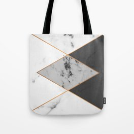 Geometric marble & copper Tote Bag