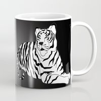 tigers Mugs featuring Tigers by Christina Gulbrandsen