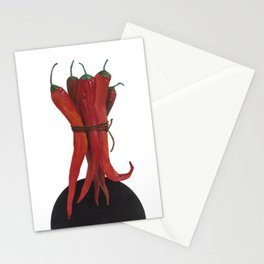 Red hot pepper Stationery Cards