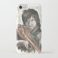 daryl dixon iPhone & iPod Cases featuring Daryl Dixon by Eric Dockery