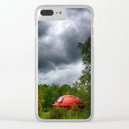 UFO in the woods Clear iPhone Case