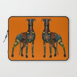 greyhound orange Laptop Sleeve