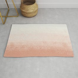 Peach Pink Breeze _ Soft Neutral Textures_Abstract Art Painting  Rug