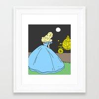 cinderella Framed Art Prints featuring Cinderella by RaJess