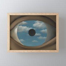Rene Magritte False Mirror Framed Mini Art Print