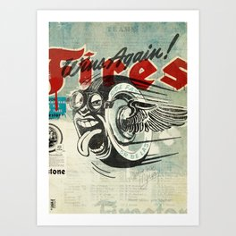 Firestone Tires Art Print