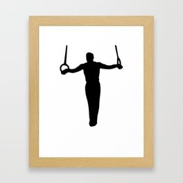 Iron Cross Gymnast Framed Art Print