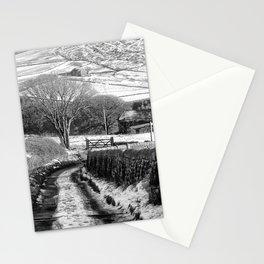 snow on badger lane Stationery Cards