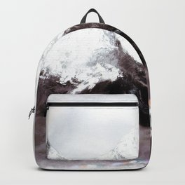 Panoramic View Of Everest Mountain Painting Backpack