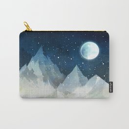 Mountain Lake Under the Starlight Carry-All Pouch