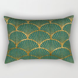 Emeral gold petal pattern Rectangular Pillow