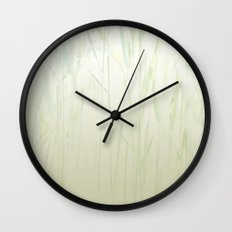 Grasses Spa Pattern Wall Clock