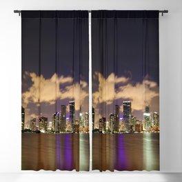 Downtown Miami Night Blackout Curtain