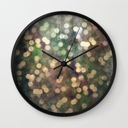 Magical Lights Gold Dots Wall Clock