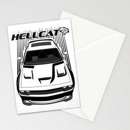 Dodge Challenger Hellcat - Dark Transparent/Multi Color Stationery Cards