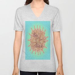 Bad Bitch - azure Unisex V-Neck