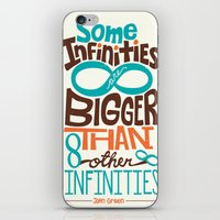 tfios iPhone & iPod Skins featuring Some Infinities TFIOS Quote by digital detours