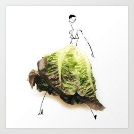 Edible Ensembles: Lettuce Art Print