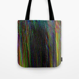 Photo glitch. Television signal fail Tote Bag