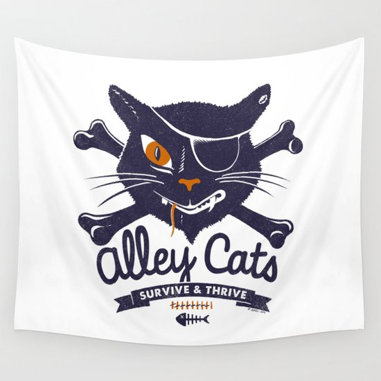 Alley Cats Wall Tapestry
